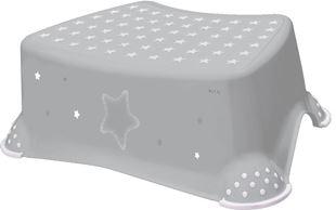 Obrázek Stolička, schůdek s protiskluzem Baby Star - šedý, K19