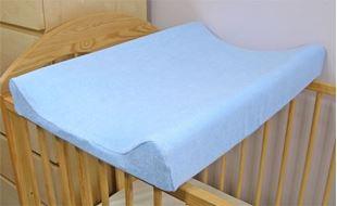 Obrázek Froté potah na přebalovací podložku, 70cm x 50cm -  modrý