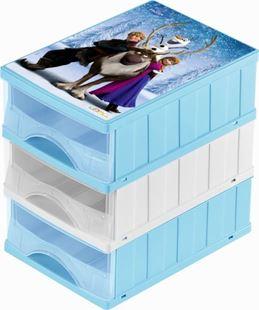 Obrázek Boxy na hračky - sada 3 šuplíků FROZEN
