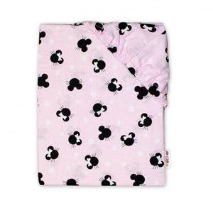 Obrázek Dětské bavlněné prostěradlo do postýlky - Minnie, růžová