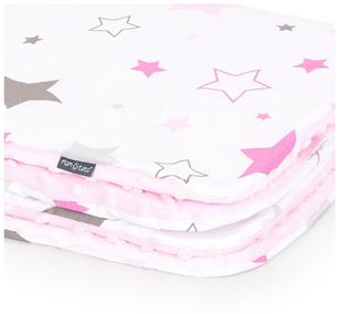 Obrázek Dětská deka Hvězdy Minky 75x100 cm - různé barvy a varianty