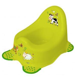 Obrázek Nočník Funny Farm s protiskluzem - zelený