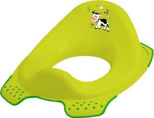 Obrázek Adaptér - treningové sedátko na toaletu Funny Farm - zelený