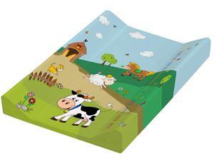 Obrázek Přebalovací podložka Funny Farm - tvrdá, kravička