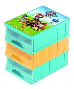 Obrázek Boxy na hračky - sada 3 šuplíků Paw Patrol