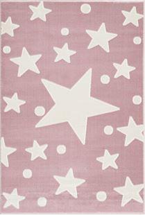 Obrázek Dětský koberec Hvězdy - růžovo-bílý Stars 100x160 cm