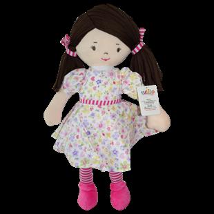 Obrázek Hadrová panenka Malvínka, 40 cm - růžová