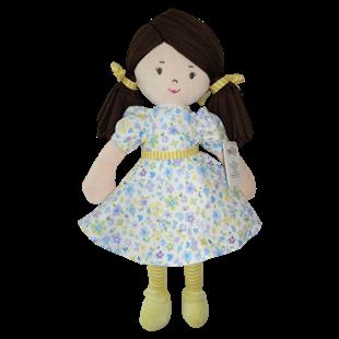 Obrázek Hadrová panenka Malvínka, 40 cm - žlutá