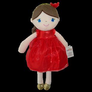 Obrázek Hadrová panenka Inez, 38 cm - červená