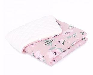 Obrázek Dětská prošívaná deka Květy Velvet LUX 75x100 cm