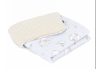 Obrázek Dětská prošívaná deka Medvídek na obláčku Velvet 75x100 cm