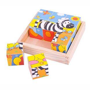 Obrázek Obrázkové kostky kubusy Safari 9 kostek