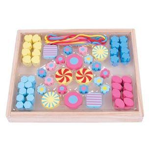 Obrázek Dřevěné navlékací korálky Candy
