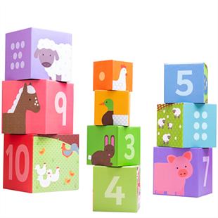 Obrázek Bigjigs Toys didaktické kostky farma