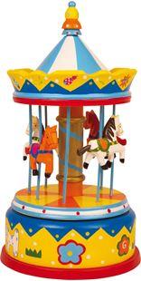 Obrázek Dřevěná hrací skříňka kolotoč Merry