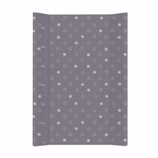 Obrázek Pevná přebalovací podložka 50x70 cm Hvězdičky - Tmavě šedá