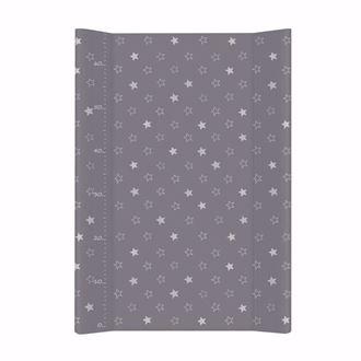 Obrázek z Pevná přebalovací podložka 50x70 cm Hvězdičky - Tmavě šedá