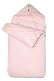 Obrázek Bavlněný fusak prošívaný, velvet , 45 x 95 cm - růžový