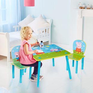 Obrázek Dětský stůl s židlemi Peppa Pig
