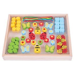 Obrázek Dřevěné hračky - Navlékací korálky Louka