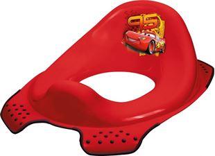 Obrázek Adaptér - treningové sedátko na toaletu Cars - červený