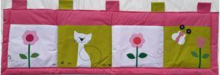 Obrázek Kapsář za postel 160x50 cm - Kočička a kytičky