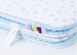 Obrázek Dětská deka Hvězdičky Minky 75x100 cm - různé barvy a varianty