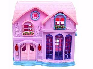 Obrázek Rozkládací domeček pro panenky se zvonkem
