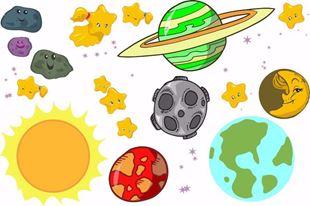 Obrázek Planety a hvězdy samolepka na zeď