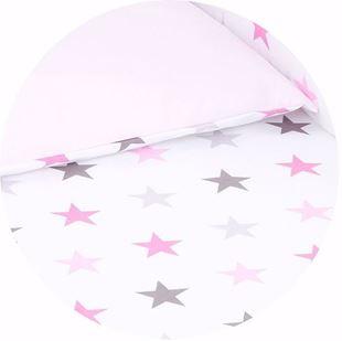 Obrázek Bavlněné oboustranné povlečení do postýlky Hvězdy - různé barvy