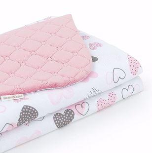 Obrázek Dětská prošívaná deka Srdíčka Velvet 75x100 cm - Růžová - různé varianty