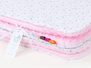 Obrázek Dětská deka Mini hvězdičky Minky 75x100 cm - různé barvy a varianty