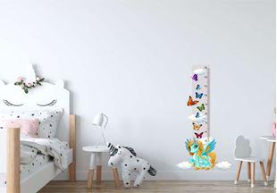 Obrázek Metr na stěnu - Jednorožec a motýlci