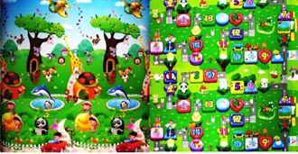 Obrázek z Dětský oboustranný pěnový koberec - Zoo-stolní hra 200x180x1 cm