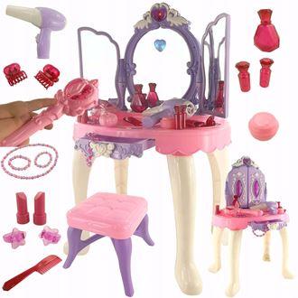 Obrázek z Dětský toaletní stolek s dálkovým ovládáním - Fialová