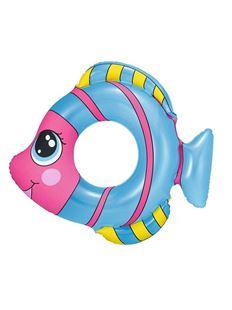 Obrázek Dětský nafukovací kruh ve tvaru rybky modrý