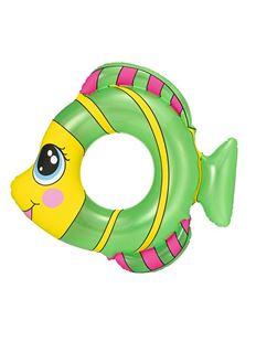 Obrázek Dětský nafukovací kruh ve tvaru rybky zelený