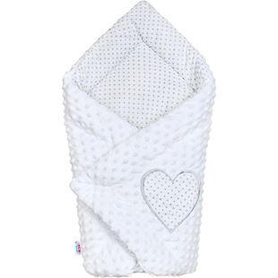 Obrázek Luxusní Zavinovačka z Minky bílá 73x73 cm