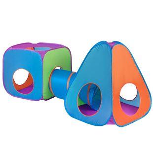 Obrázek Dětský stan 3v1 oranžovo-modrý