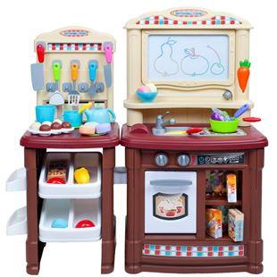 Obrázek Velká dětská kuchyňka Super Šéf s tekoucí vodou + příslušenství