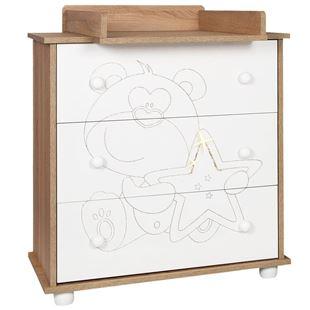 Obrázek Dětská komoda Medvídek s hvězdičkou dub