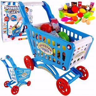 Obrázek Nákupní vozík s příslušenstvím - Modrá