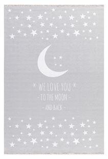 Obrázek Dětský  koberec milujeme měsíc - šedý 90x130cm