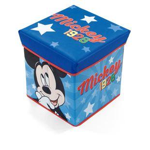 Obrázek Úložný box na hračky Mickey s víkem