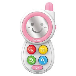 Obrázek Dětský telefónek se zvuky Růžová