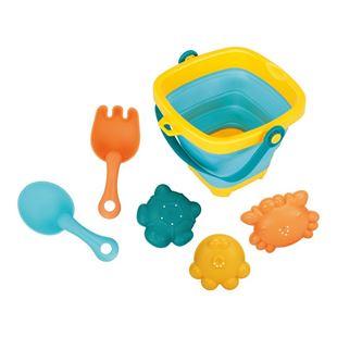 Obrázek Skládací kyblík a hračky do vody 5ks