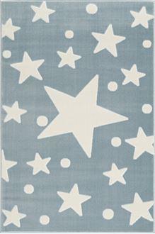 Obrázek z Dětský koberec hvězdy - modrá-bílá 120x180cm