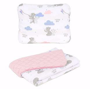 Obrázek Dětská deka s polštářem Medvídci Velvet 75x100 cm - různé barvy a varianty