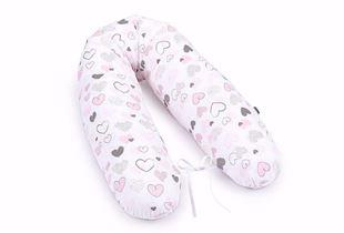 Obrázek Kojící polštář Srdce C - Růžová