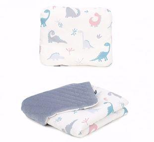 Obrázek Dětská deka s polštářem Dino Velvet Lux 75x100 cm